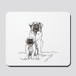 Leonberger Dog Family Mousepad