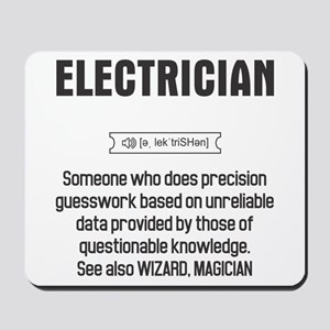 Funny Electrician Definition Mousepad