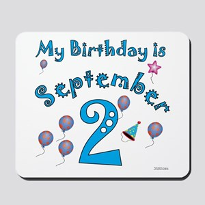 September 2nd Birthday Mousepad