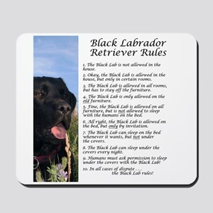 Black Lab Rules Mousepad