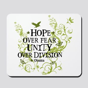 Obama Vine - Hope over Division Mousepad