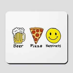 Beer Pizza Happiness Mousepad