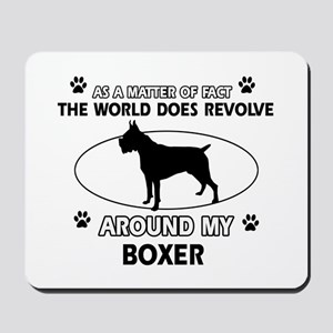 Boxer Dog Awesome Designs Mousepad