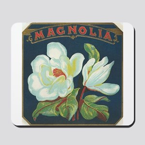 Magnolia antique label Mousepad