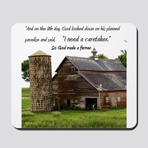 God Made a Farmer Mousepad