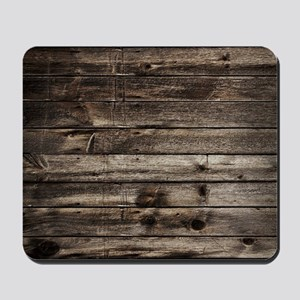 rustic primitive grey barn wood Mousepad