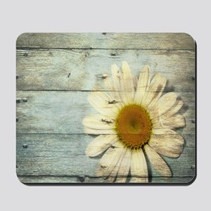 shabby chic country daisy Mousepad