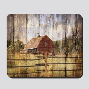 farm red barn Mousepad