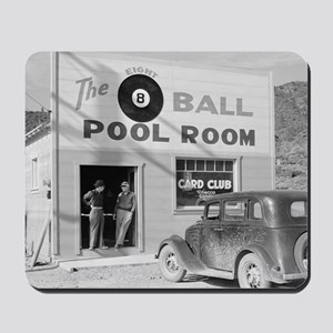 The Eight Ball Pool Room Mousepad