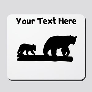 Bear And Cub Silhouette Mousepad