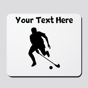 Field Hockey Player Silhouette Mousepad