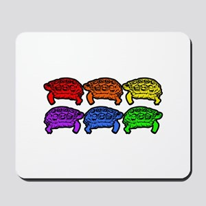 Rainbow Turtles Mousepad
