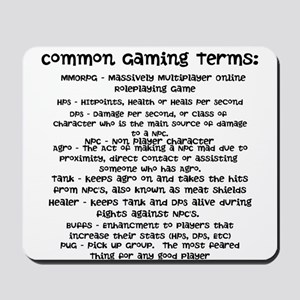 Common Gaming Terms Mousepad