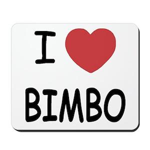 I heart bimbo Mousepad