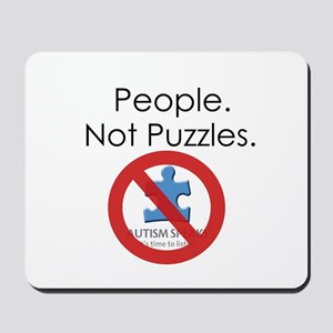 People, Not Puzzles Mousepad