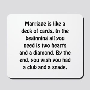 Marriage Cards Mousepad