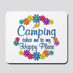 Camping Happy Place Mousepad