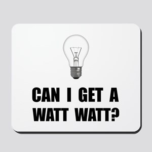 Watt Watt Light Bulb Mousepad