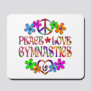 Peace Love Gymnastics Mousepad