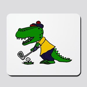 Alligator Playing Golf Mousepad