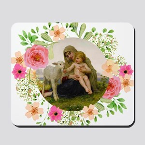 Virgin and Lamb Mousepad