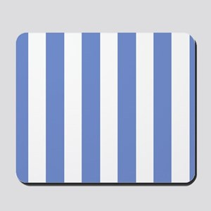 Sky Blue Stripes Mousepad