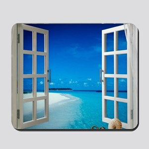 Open Window With Ocean View Mousepad