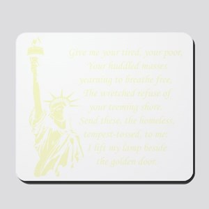 Statue-of-Liberty-quote-(black) Mousepad