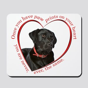 Lab Paw Prints Mousepad