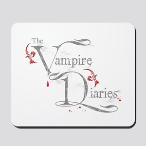 The Vampire Diaries grungy grey Mousepad