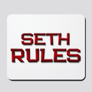 seth rules Mousepad