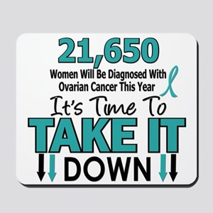 Take Down Ovarian Cancer 4 Mousepad