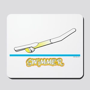 Swimmer (Girl) Yellow Suit Mousepad