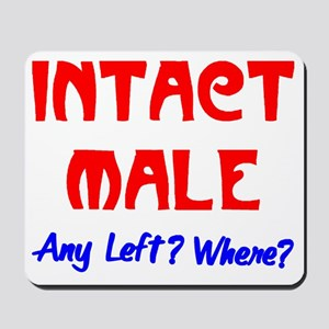 INTACT MALE - ANY LEFT? Mousepad