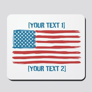 [Your Text] 'Handmade' US Flag Mousepad