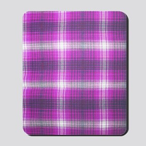 Girly, Pink Plaid, Mousepad