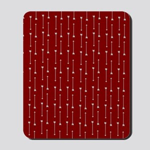 Gray Arrows on Red Mousepad