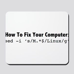 How to fix your computer in one command! Mousepad