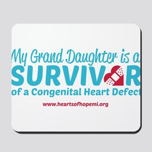 CHD Survivor - Grand Daughter Mousepad