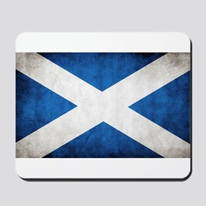 antiqued scottish flag Mousepad