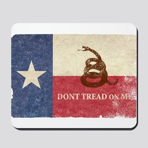 Texas and Gadsden Flag Mousepad
