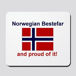 Proud Norwegian Bestefar Mousepad