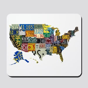 america license Mousepad