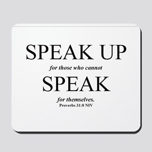 Speak Up Mousepad