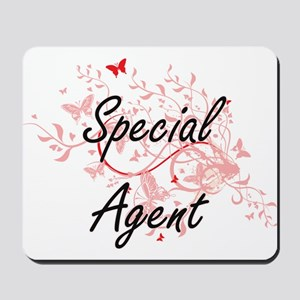 Special Agent Artistic Job Design with B Mousepad