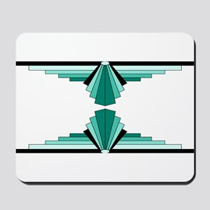 Art deco patterns in aqua Mousepad