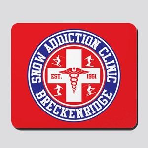 Breckenridge Snow Addiction Clinic Mousepad