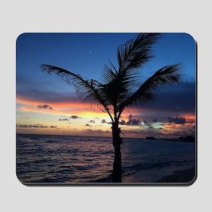 Beach Sunset Palm Tree Mousepad