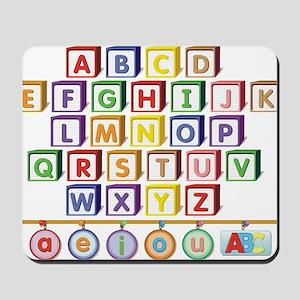 ABC Blocks Mousepad