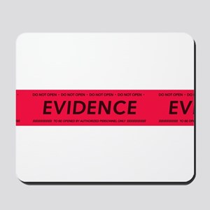 Red evidence tape Mousepad